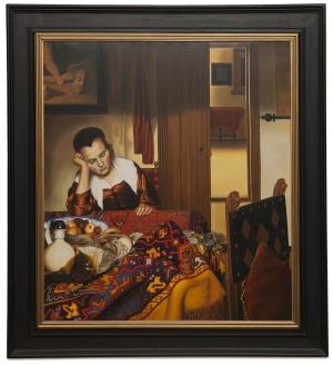 A maid asleep - Fanciulla che dorme - cm 90x80