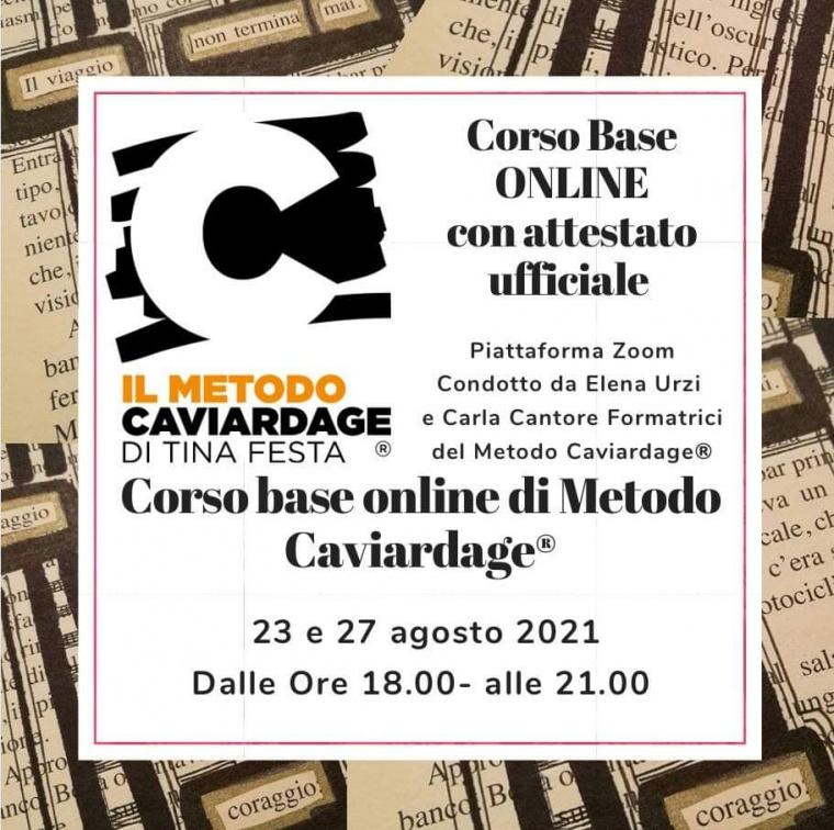Corso base online di Metodo Caviardage® – con attestato finale - di pomeriggio