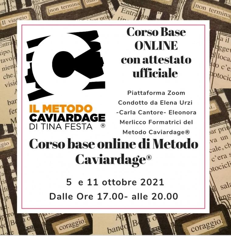 Corso Base Online di Metodo Caviardage® 5-11 ottobre di pomeriggio conducono Elena Urzi, Eleonora Merlicco e Carla Cantore