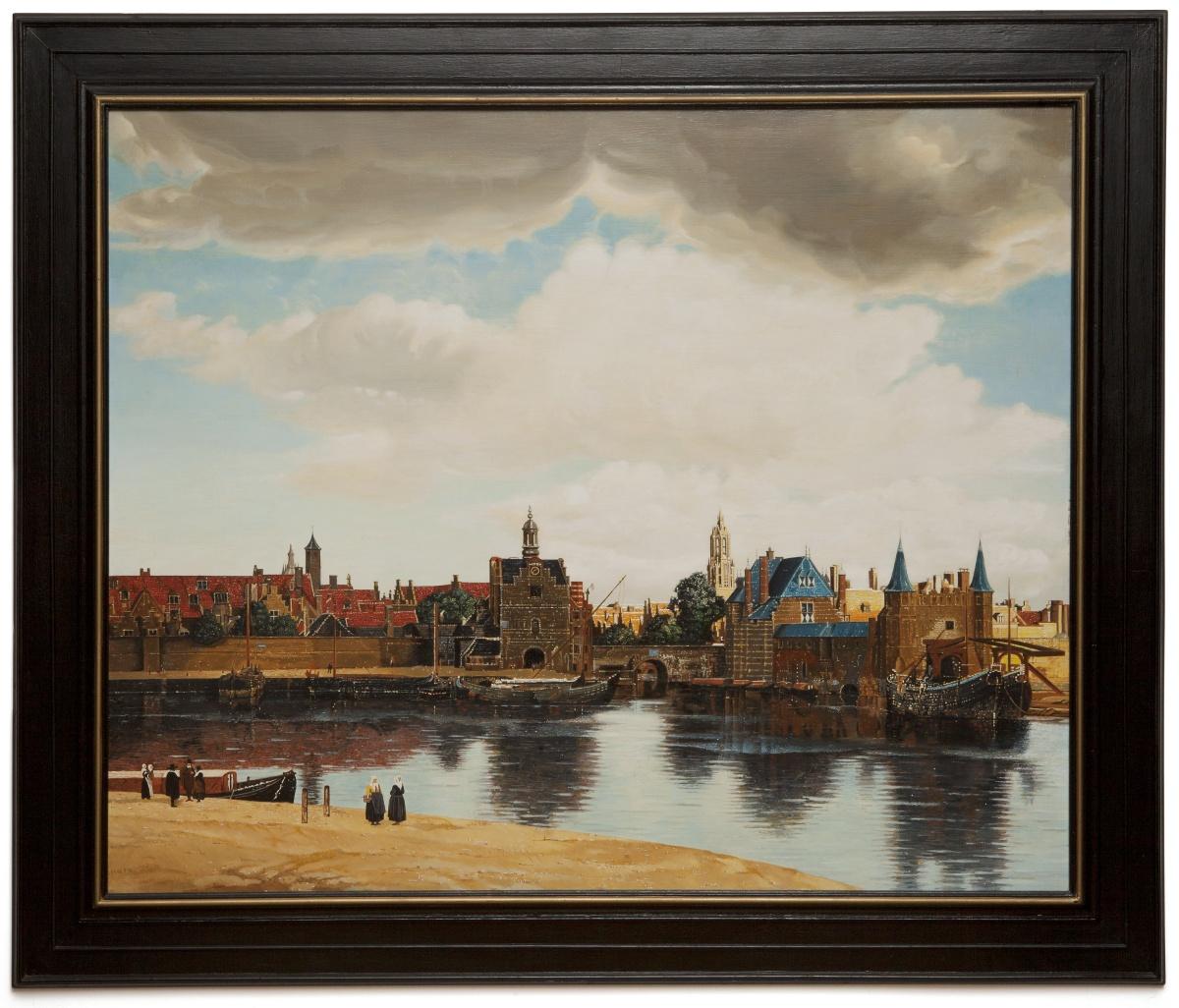 View of Delft - Veduta di Delft - cm 123x100