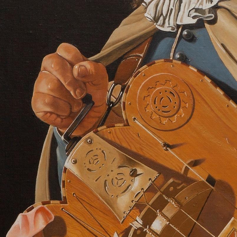 The hurdy gurdy player - Suonatore di ghironda - cm 84x64