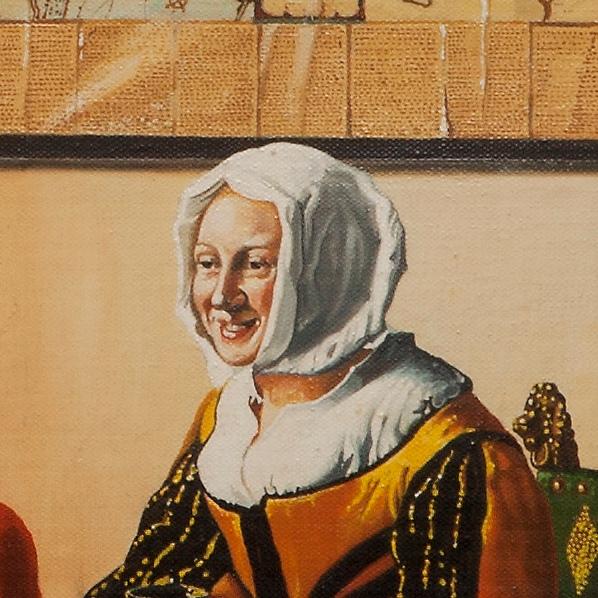 Officer and laughing girl - Il soldato e la fanciulla ridente - cm 48x43