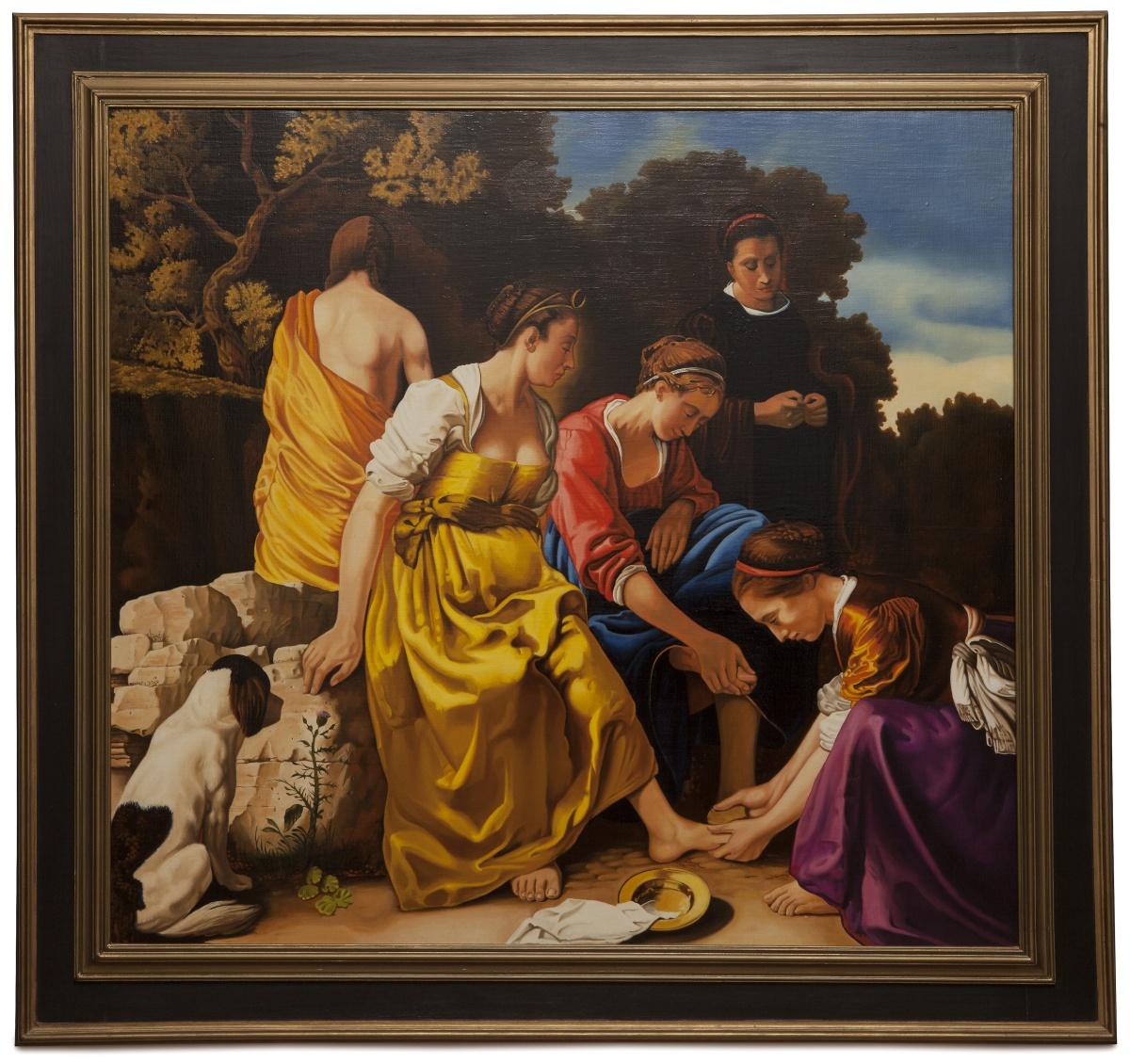 Diana and her companions - Diana e le ninfe - cm 107x100