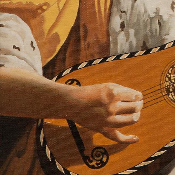 The guitar player - La suonatrice di chitarra - cm 54x47